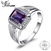 Jewelrypalace Luxury 4.6ct Created Luxury Alexandrites Sapphires Wedding and Engagement Ring For Men Genuine 925 Sterling Sliver
