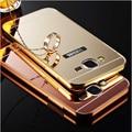 Зеркало Алюминиевый Корпус Для Samsung Galaxy J1 J2 J3 J5 J7 2016 A3 A5 A7 Grand Prime Роскошный Металлический Каркас Акриловые Телефон Задняя Крышка