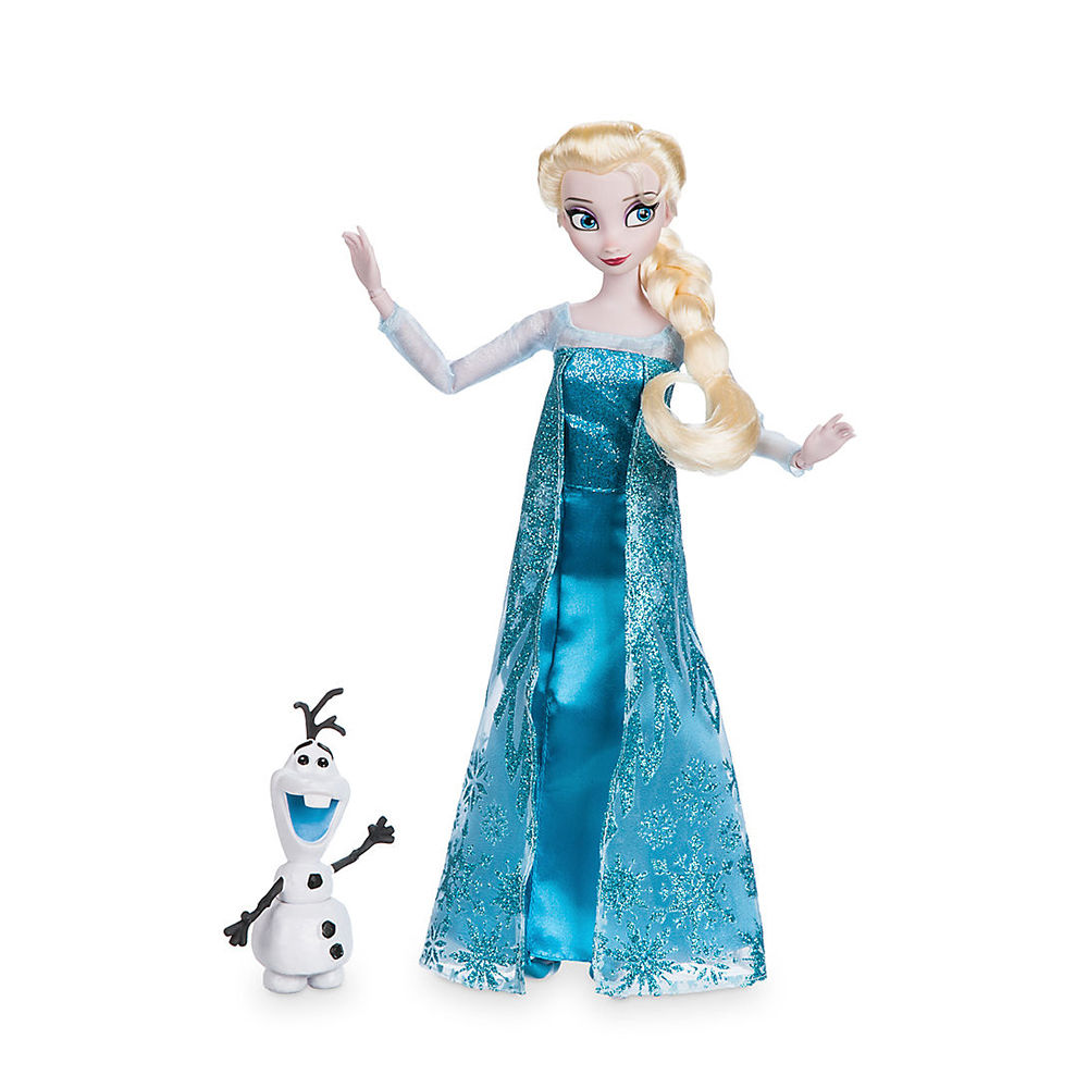 Animated cartoon Original princess Elsa Classic Doll with Olaf action Figure toys collection birthday gift toys for children limited 16cm high classic toy the rock occupation wrestling gladiators wrestler action figure toys for children classic gift