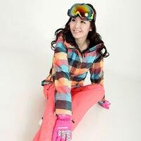 Новые зимние Gsou лыжный костюм Для женщин Наборы для ухода за кожей ветрозащитный дышащий Водонепроницаемый Для женщин куртка для снежной п