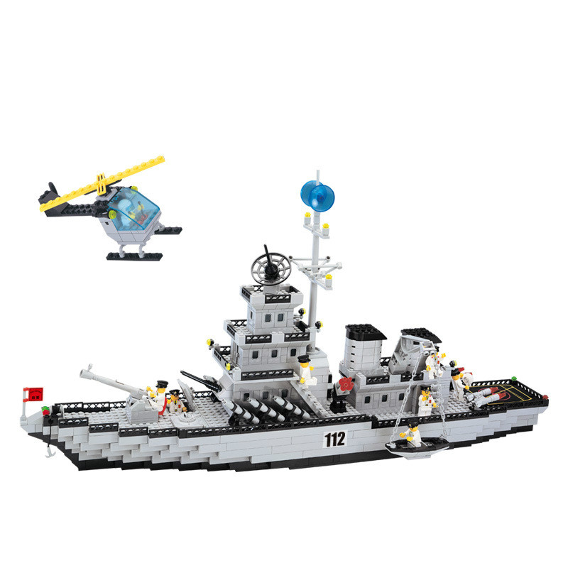 ENLIGHTEN City Military Navy Patrol Warships Destroyer Battleship Building Blocks Sets Bricks Model Kids Toys Compatible legoing 0367 sluban 678pcs city series international airport model building blocks enlighten figure toys for children compatible legoe
