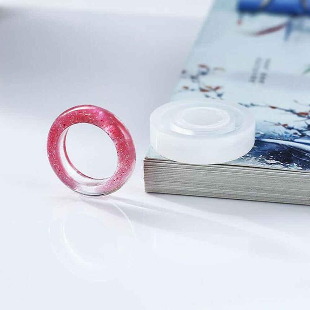 3 יח'\סט גמיש מגוון סיליקון טבעת עובש להכנת שרף אפוקסי תכשיטי DIY כלים שקוף עגול צורת מכירה לוהטת