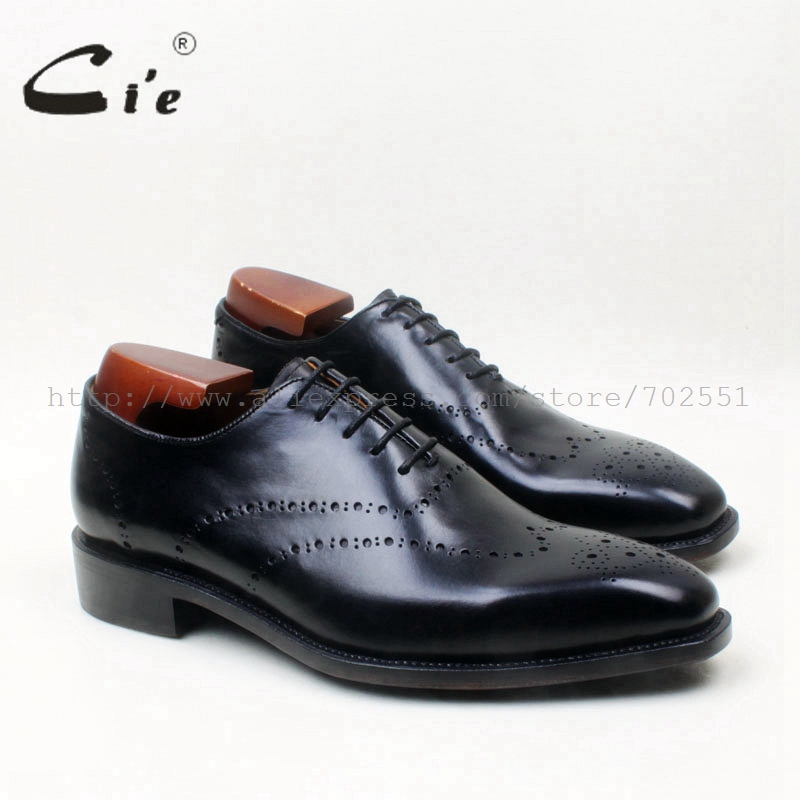 cie square toe whole cut brogue lace-up oxfords solid black 100%genuine calf leather goodyear welted men's leather handmade shoe беспроводной маршрутизатор tp link tl wr840n v2 802 11n 300mbps 4xlan 1xwan