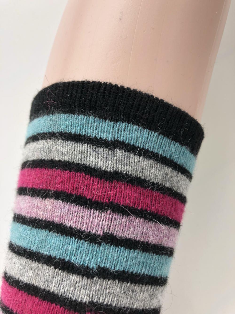 Hot Sale Over Knee Long Tube Rabbit Wool Knitted Leg Warmer Boots Gaiters Rainbow Fashion Feminine Winter Leg Cover 1pair Drop Shipping Underwear & Sleepwears