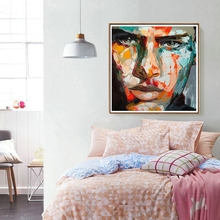 Knife Painting Abstract Portrait Face Oil painting Impasto figure canvas  Francoise Nielly Wall Art Pictures For Home Deoration