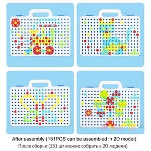 Image 5 - Jongen Speelgoed Elektrische Boor Speelgoed Simulatie Tool Speelgoed Gemonteerd Match Diy Model Kit Educatief Gebouw Speelgoed Sets Schroeven Speelgoed