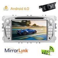 Автомобильный dvd плеер Android 6,0 gps головное устройство аудиосистемы магнитофон Кассетный мультимедийный плеер стерео радио навигация для FORD