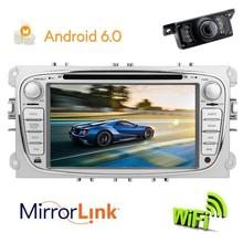 Android 6.0 Car DVD Player GPS audio head unit tape recorder Cassette multimedia player stereo radio navigation for FORD Focus