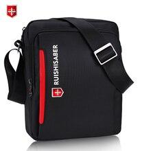d16bdf5ea2dc23 Marke 2017 Schweizer männer Handtaschen Casual Reise Messenger Schulter  Taschen Wasserdicht Mode Schwarz Umhängetaschen Oxford Zipper