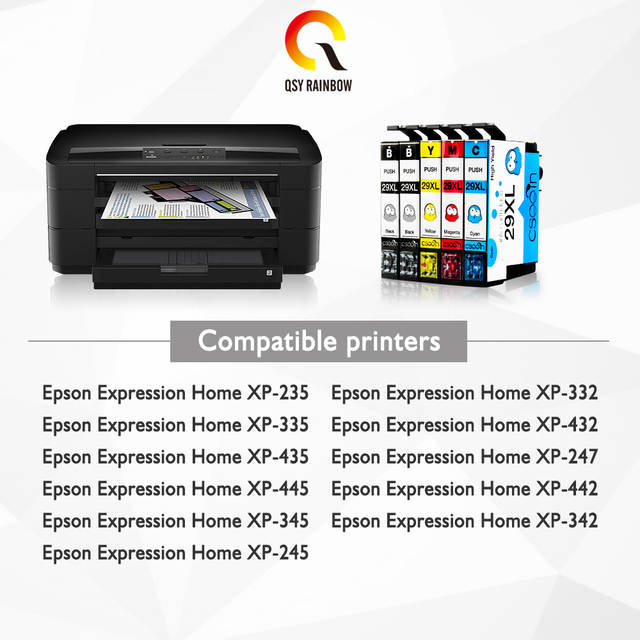 10pcs 29XL T2991 2992 2993 2994 Compatible Ink Cartridge for Epson  Expression Home XP-235/XP-332/XP-335/XP-432/XP-435 printers