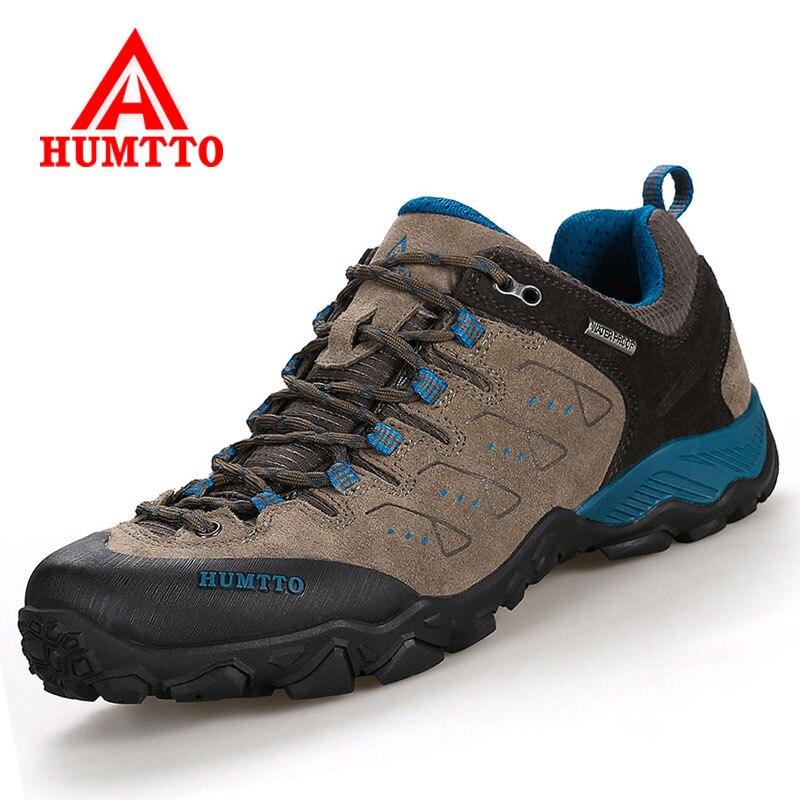 HUMTTO Мужская походная обувь из натуральной кожи женская обувь для альпинизма уличная Нескользящая спортивная обувь для путешествий и прогу...