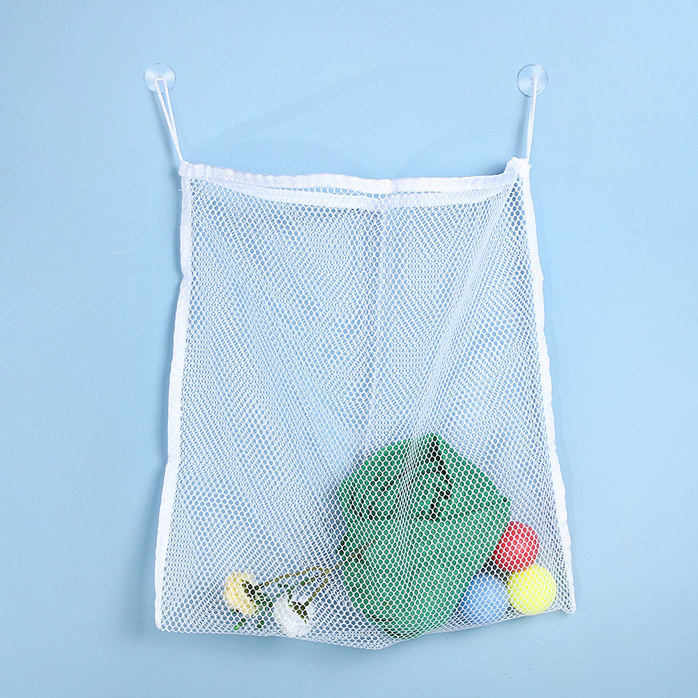 Baby Kids Bath Toy Mesh Net Container Bag Organizer Holder Bathroom Hanging Organizer Storage Shelves
