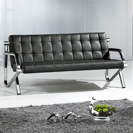 Office Furniture Sofa Chair Waiting For Modern Commercial Leisure