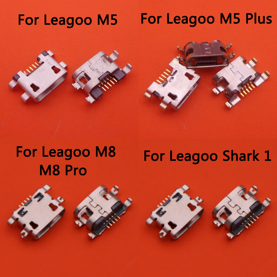 2pcs For Leagoo M5/M5 Plus/M8/M8 Pro/Shark 1 Power Charging Port Repair Replacement Jack Socket Plug Connector Mini Micro USB