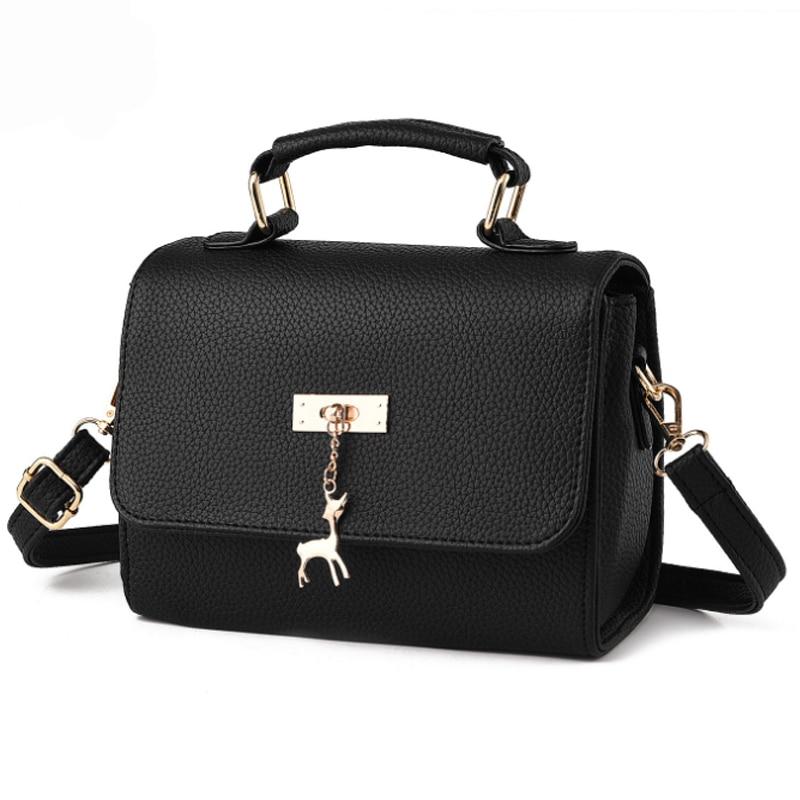 Luxury Women Messenger Bags 2017 PU Leather Women Handbags Hot Women Shoulder Bags Famous Brands Female Tote Bag Bolsas C2055M