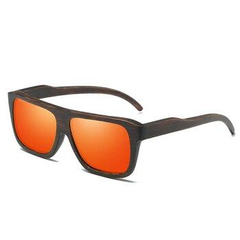 EZREAL Polarized Wood Sunglasses Retro Bamboo Frame Driving Sun Glasses Handmade Wooden Eyewear Glasses For Men Women EZ029 8