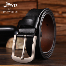 [DWTS]2017 men belt leather luxury high quality cow genuine leather belts for men vintage pin buckle for jeans cinto masculino