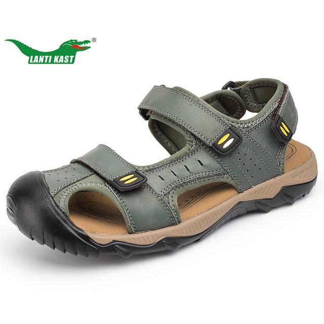 b87d0aafc580 Ланти Каст 38-48 обувь больших размеров Для мужчин Пеший Туризм Сандалии  для девочек летние