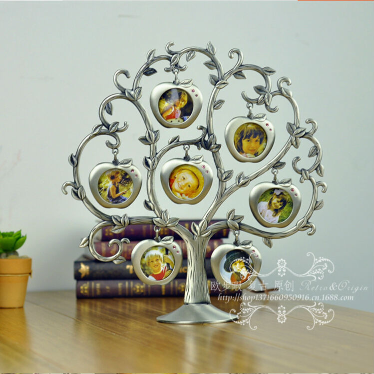 happy Tree 7 pictures family look Vinatge picture frame porta ...