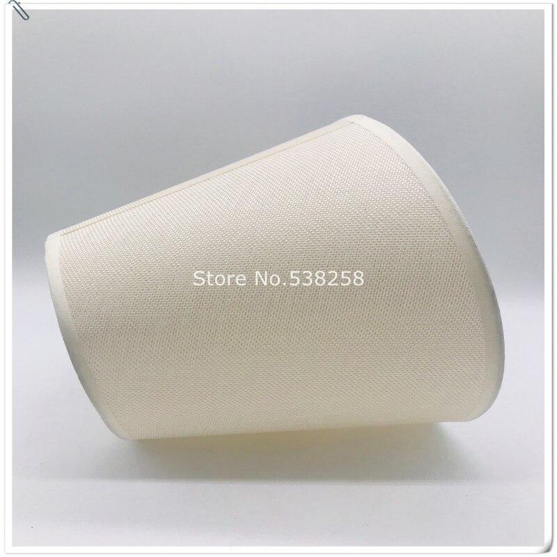 Pantallas de lámpara E27 Art Deco para lámparas de mesa, pantalla de pvc de tela beige, cortina de lámpara redonda, cubierta de lámpara de estilo moderno para lámpara de escritorio 2 piezas de lámpara de papel de pantalla blanca para colgar