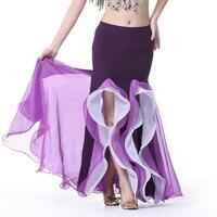 Brillante satén falda larga falda Swing bailando la danza del vientre falda falda sirena 9 colores disponibles VL-317