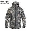 Soft shell chaqueta de camuflaje táctico uniforme militar hombres chaqueta impermeable camo multicam ejército paintball airsoft caza clothing