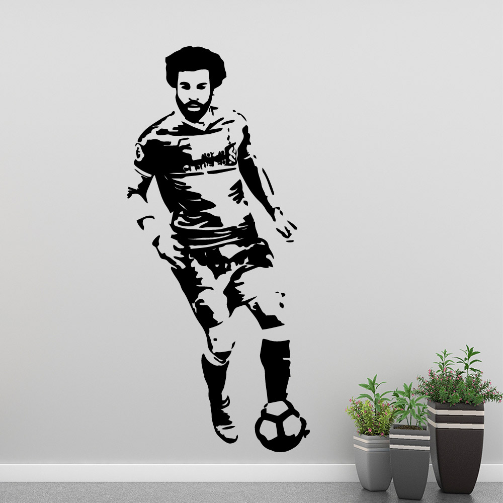 Famous Football Liverpool FC Salleh Wall Stickers For Kids Room Decal Living Room Vinyl Mural команда Ливерпуль in Wall Stickers from Home Garden