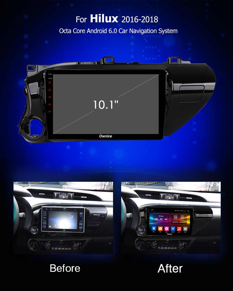 10,1 дюймов Android 8,1 блок для TOYOTA Hilux 2016 2017 2018 автомобильный DVD видео Радио DVD плеер Мультимедиа навигации gps аудио Автомобильная компьютер