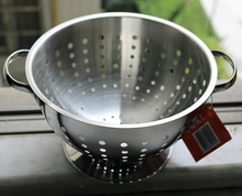 Metal stainless steel storage basket fruit food vegetable with handle high quality cheap price free shipping