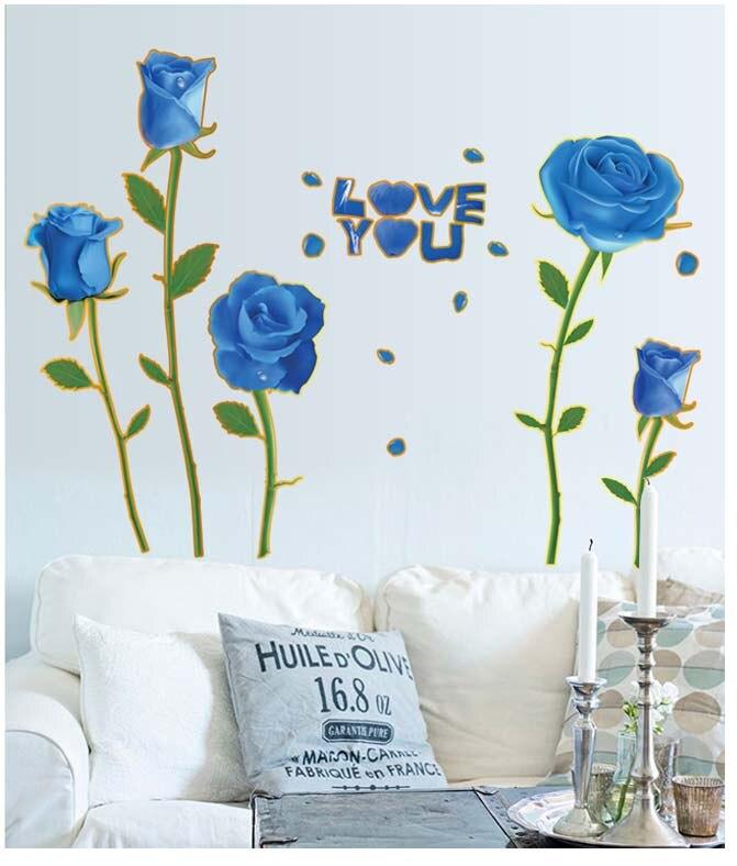 Kompetent Können Entfernen Eine Romantische Rose Dekorative Kinder Spielzeug Gold Blau Dämon Ji Ehe Zimmer Tv Einstellung Aufkleber Sofa Cartoon Animation