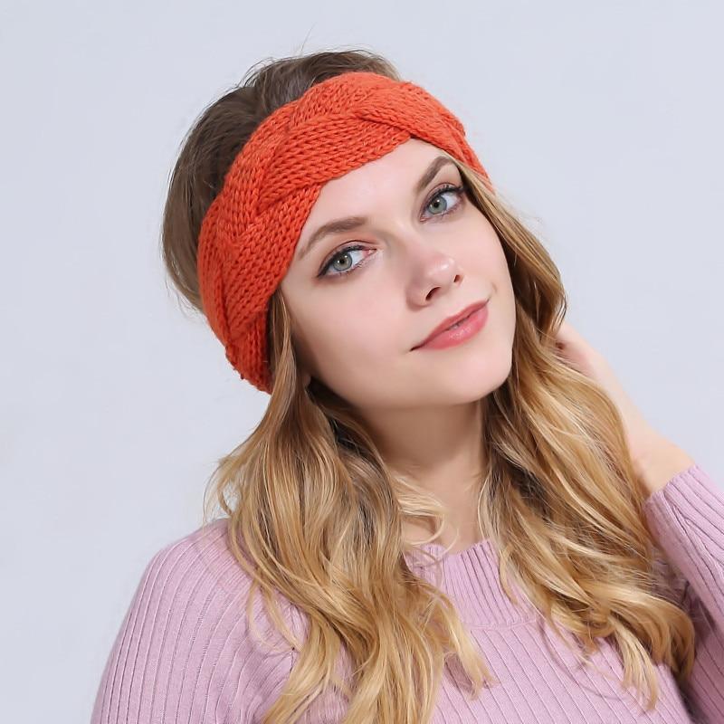 Naturalwell Crochet Pattern Headband Women Turban Cross Cable