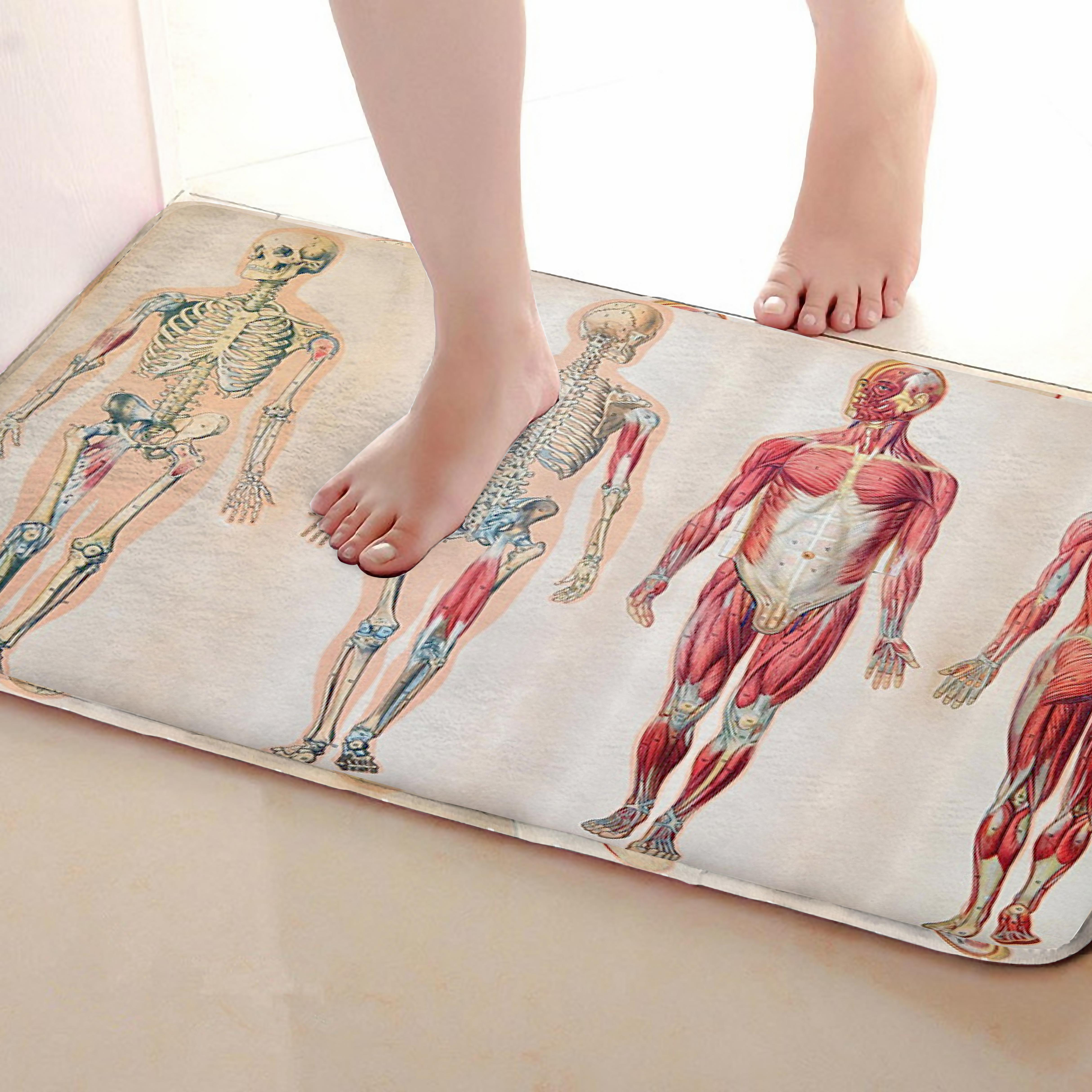 Human Body Style Bathroom Mat,Funny Anti Skid Bath Mat,Shower Curtains Accessories,Matching Your Shower Curtain