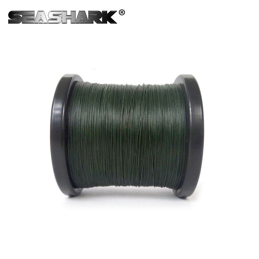 цена на SEASHARK Super Strong Multifilament PE Braided Fishing Line Multifilament 500M 9 Strands Cord Carp Fishing Lines For Saltwater