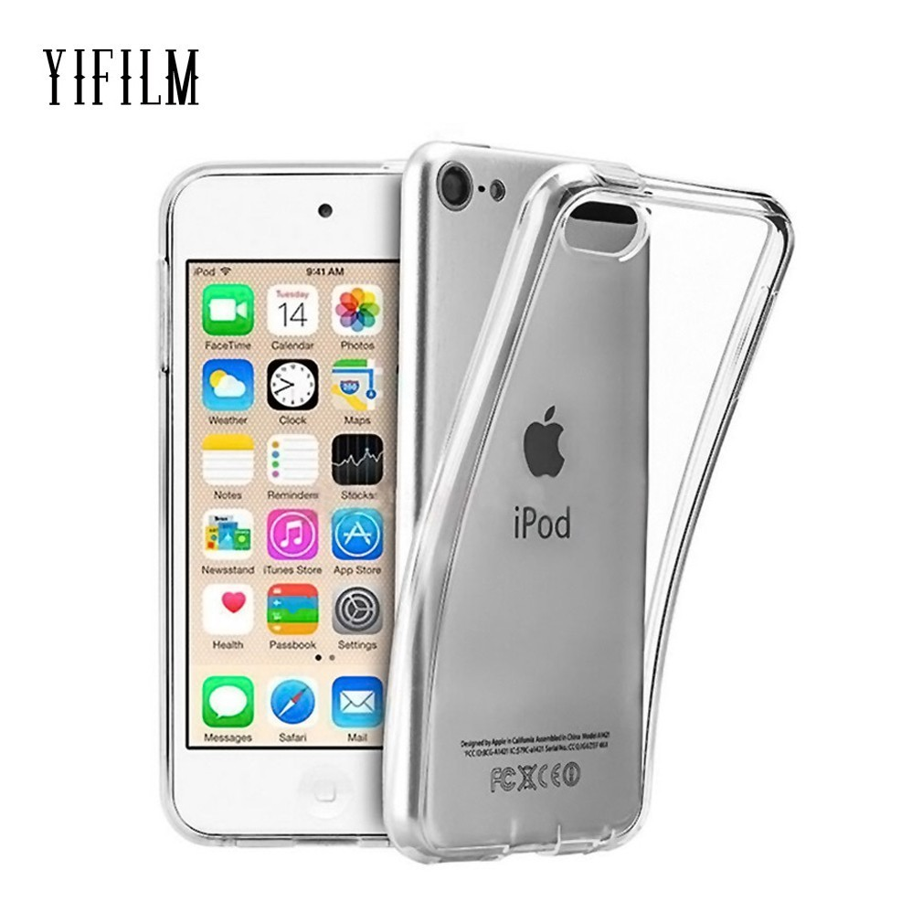 For Apple iPod Touch 5 6 7 Soft TPU Silicone Case iPhone SE X XS XR 11 Pro Max Transparent Slim Anti Slip Shockproof Cover Case