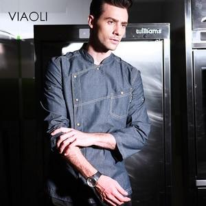 Image 4 - Uniformes de Chef de alta calidad, ropa de manga corta para hombre, ropa de cocina, uniforme de talla grande, chaquetas, monos, Hotel 016