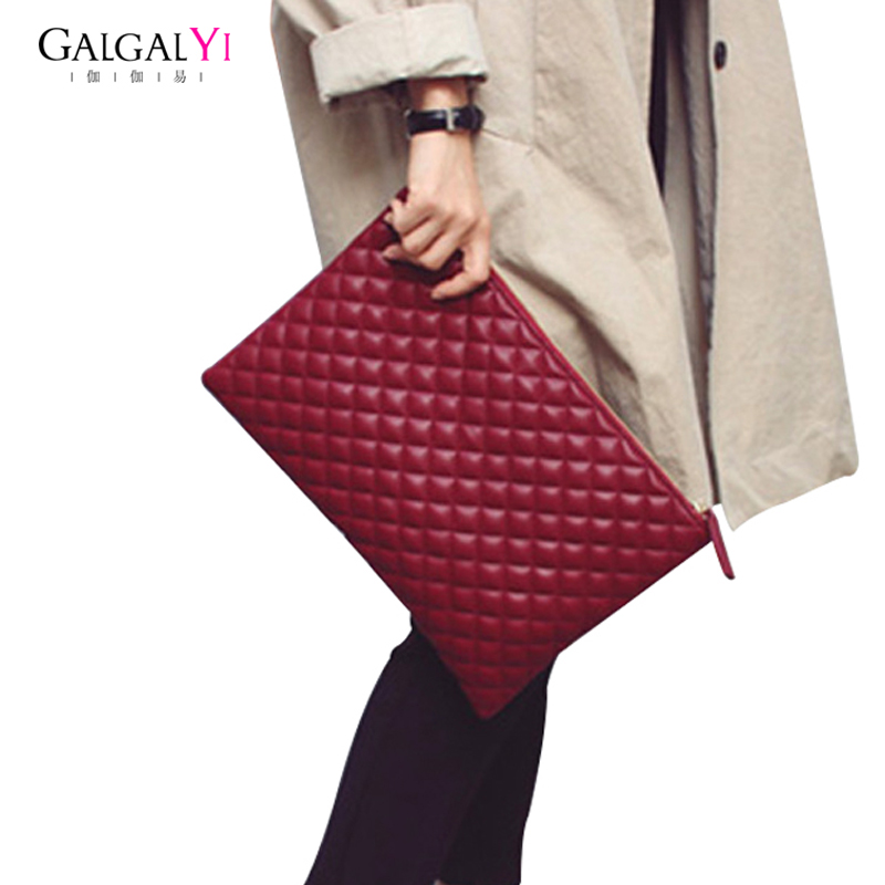 Vintage Women's Handbag Clutch Bags for Female Handbags Bag PU Leather Banquet Lingge Grab Envelope Bag Women women day clutch genuine leather envelope bag banquet women handbag vintage cowlayer messenger bag