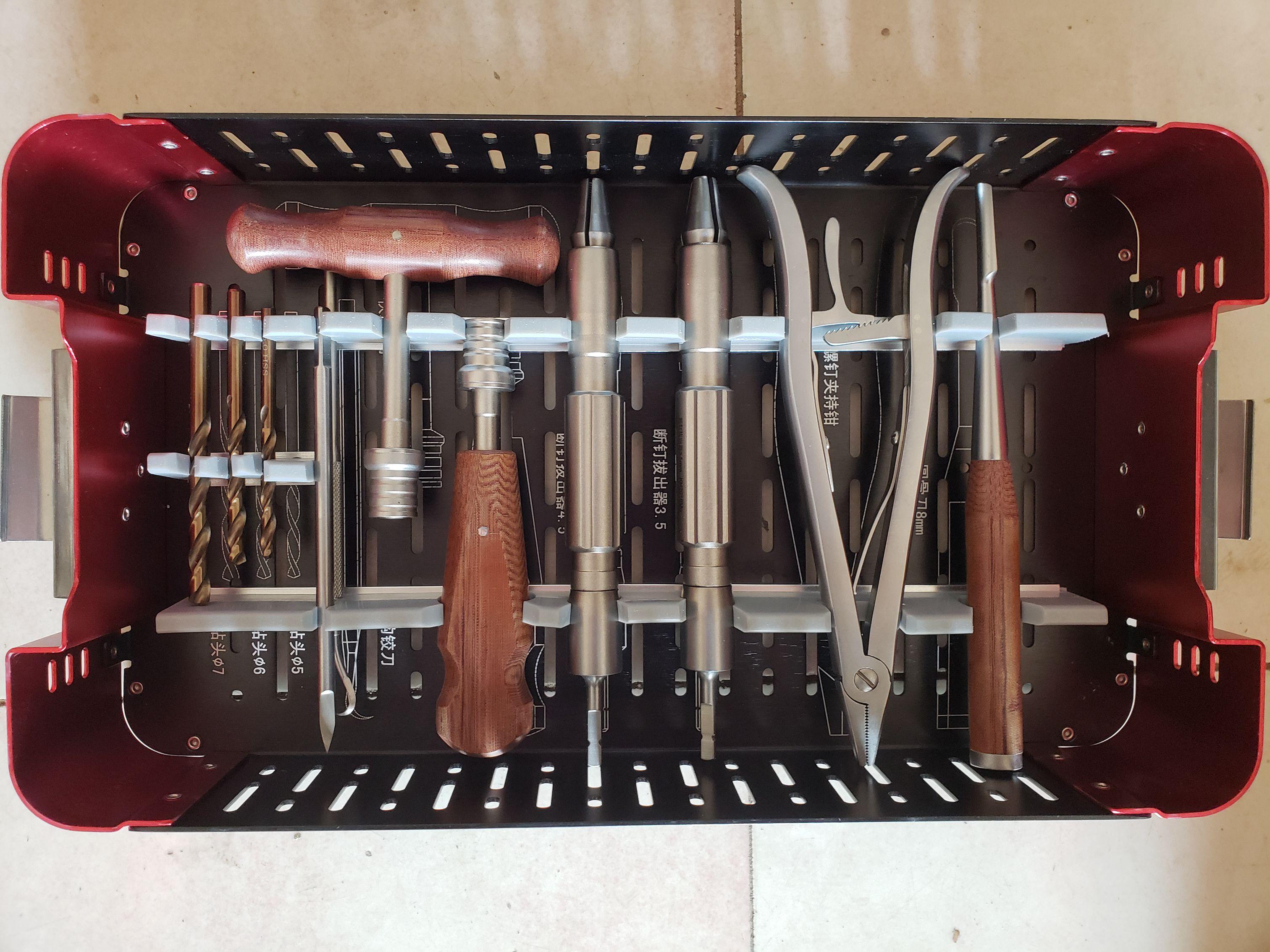 Instruments orthopédiques d'instrument de retrait de vis de Kit médical d'extracteur de vis cassé par orthopédie d'acier inoxydable de 56 pièces/ensemble