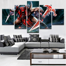 5 Pieces Paintings on Canvas Wall Art for Living Room Modern Decor DOTA 2 Game Home Decorations For
