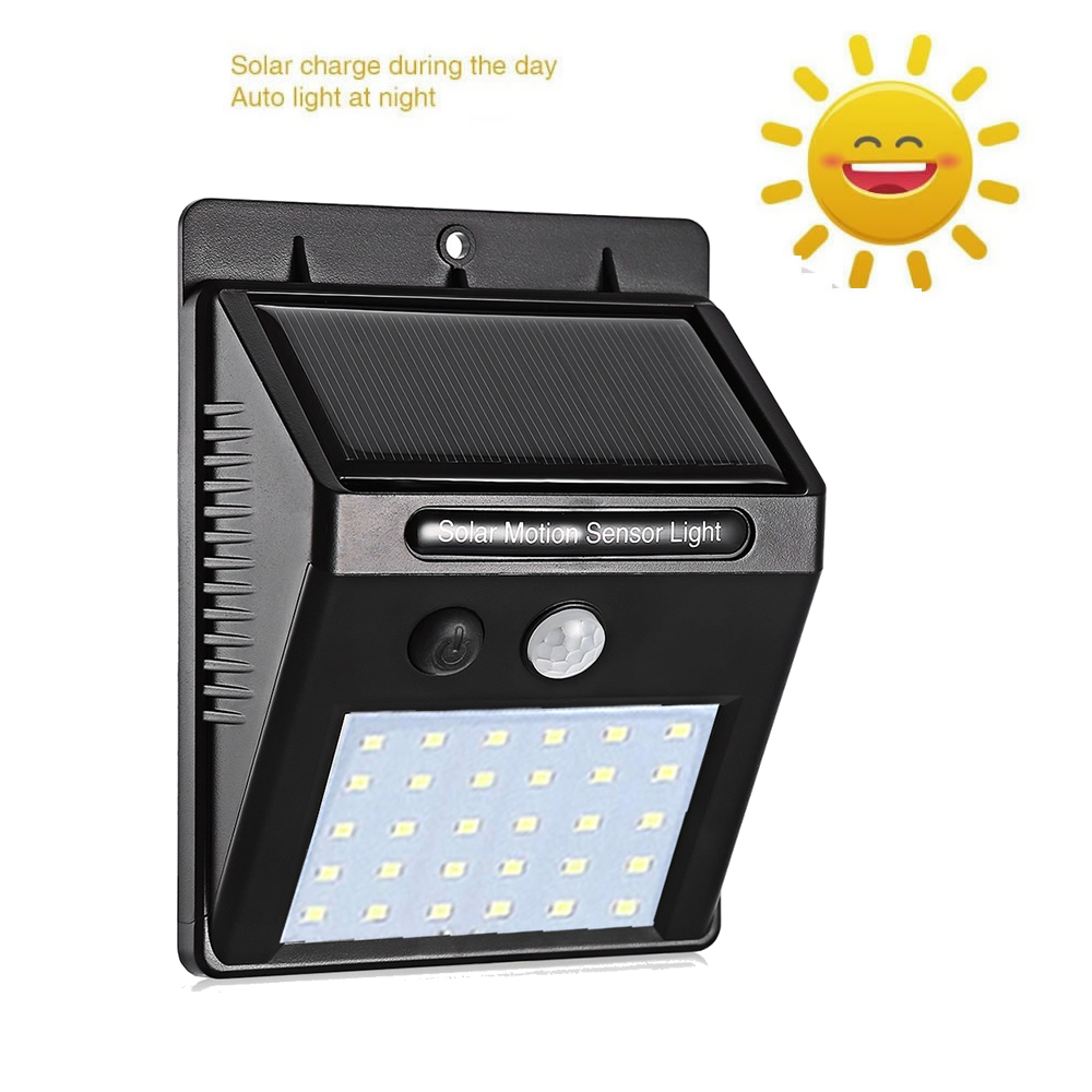 30 40 LED Solar Power Lamp PIR Motion Sensor 1 10pcs Solar Wall Light Outdoor Waterproof Energy Saving Garden Security Lamp in Solar Lamps from Lights Lighting