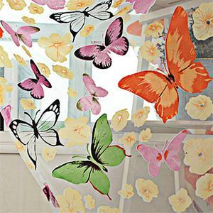 Image 4 - Mariposa colorida de tul estampado de pantallas de ventana Voile puerta cortinas cortina Panel o bufanda de cortina