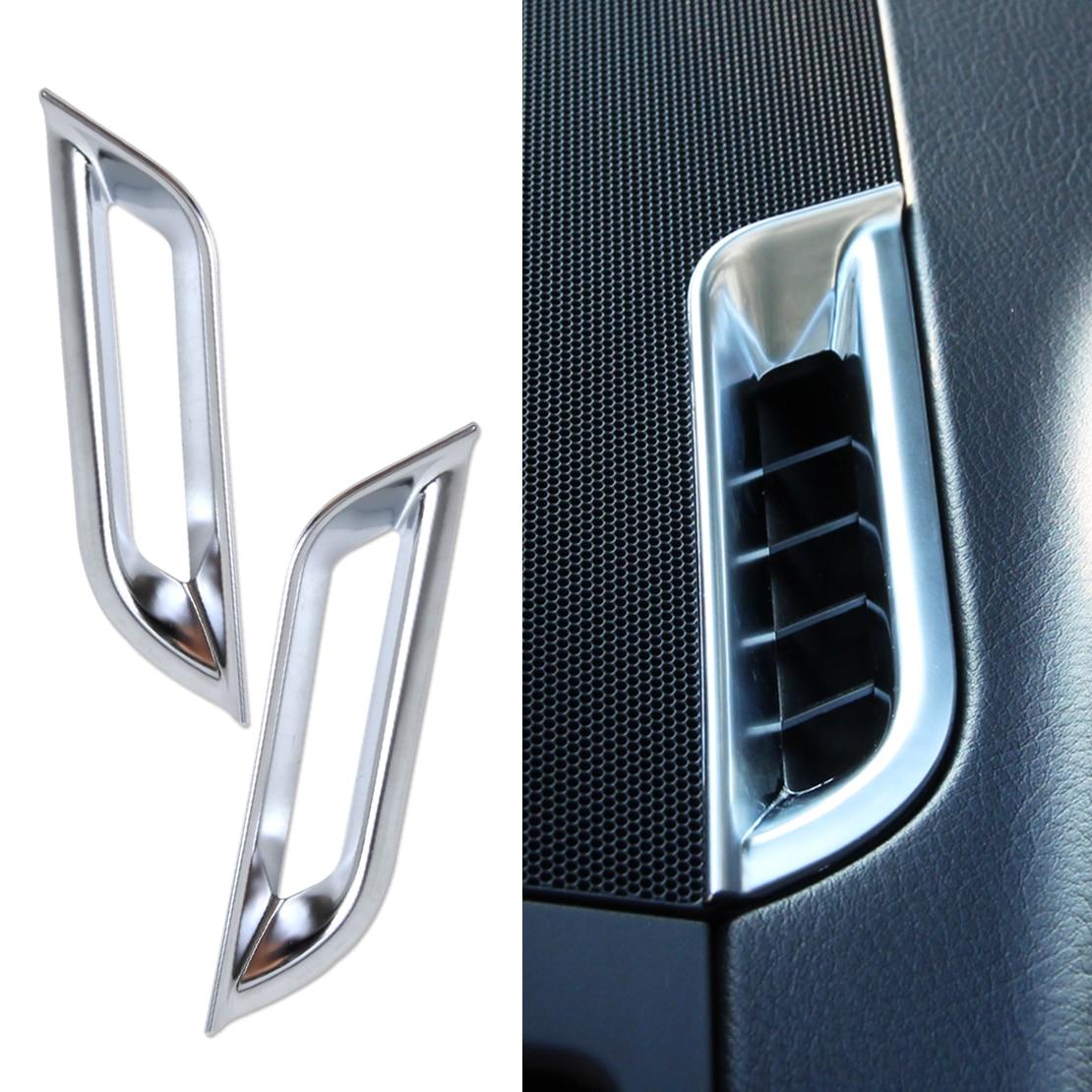 beler 2PCS New Chrome Dashboard AC Air Vent Trim Cover For Land Rover FREELANDER 2 LR2 2008 2009 2010 2011 2012 2103 2014 2015