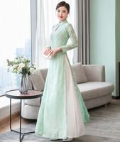 Chinese style Vietnam dress Cheongsam Tradition Chinese dress Spring Ao dai