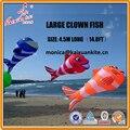 4.5 m (14.8FT) Clown Fish Línea de Lavandería, mostrar inflable cometa de weifang kaixuan kite fábrica