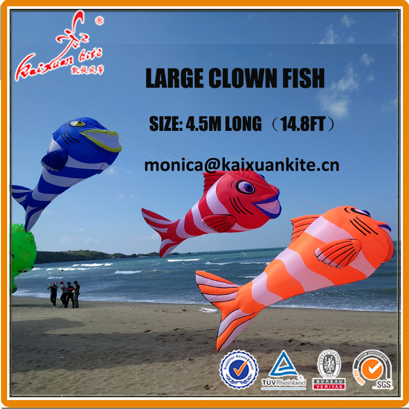 4 5m 14 8ft Clown Fish Line Laundry Inflatable Show Kite From