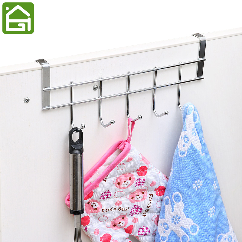 Hooks Shelf Over Door Clothing Hanger Rack Cabinet Door Loop Holder Shelf For Home Bathroom Kitchen Drip-Dry Bathroom Fixtures Bathroom Hardware