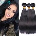 Rosa Queen Hair Products Filipino Virgin Hair Straight 3 bundles/ Lot Unprocessed Human Hair Weave Bundles Filipino Virgin Hair