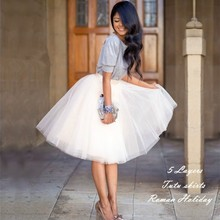 2be6ede6b6a MisShow Fall Burgundy 5 Layers Puffy Tutu Skirt Jupe Tulle Skirts Womens  Ball Gown Pleated Petticoat