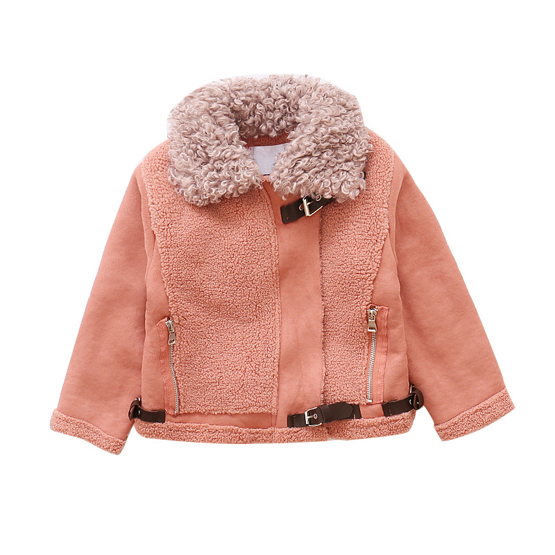 Girls coat autumn and winter thickening children's fur 2018 new Korean version of the girl warm jacket Children coats FPC-169 doershow african women matching italian red color shoes and bag set decorated with rhinestone italian ladies shoe and bag sab1 2