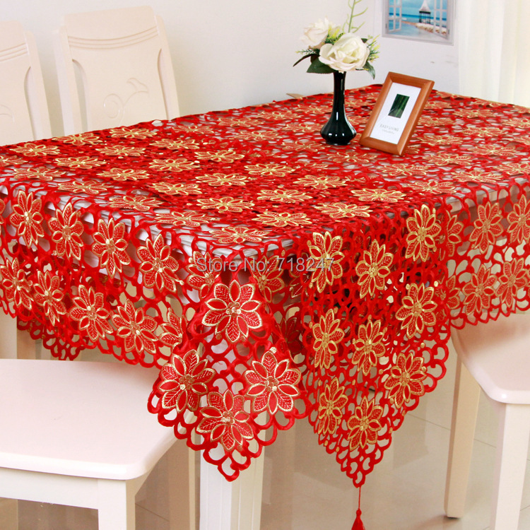 Xmas Table Linen Part - 27: Aliexpress.com : Buy Vezon New Hot Sale Christmas Embroidery Tablecloth  Coffee Color Full Embroidered Xmas Towel Table Linen Cloth Cover Overlays  From ...
