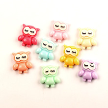 LF 20Pcs Mixed Resin Owl Decoration Crafts Flatback Cabochon Kawaii DIY Embellishments For Scrapbooking Accessories